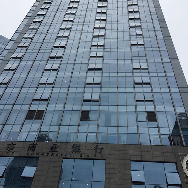 泸州市商业银行总部业务用楼空气检测现场
